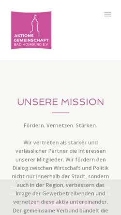 Vorschau der mobilen Webseite www.aktionsgemeinschaft-bad-homburg.de, Aktionsgemeinschaft Bad Homburg e.V.