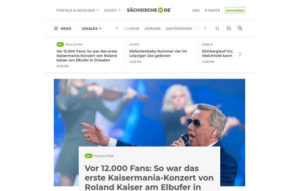 Vorschau von www.saechsische.de, Sächsische Zeitung