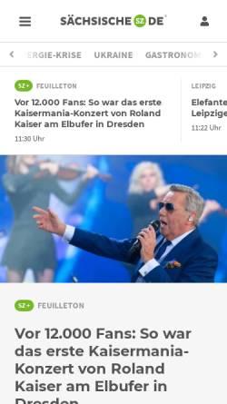 Vorschau der mobilen Webseite www.saechsische.de, Sächsische Zeitung