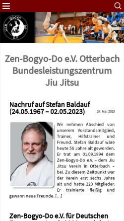 Vorschau der mobilen Webseite www.zbdev.de, Zen-Bogyo-Do e.V.