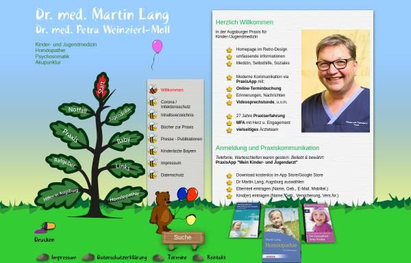 Vorschau von www.kinderarzt-augsburg.de, Kinderarzt Dr. Lang