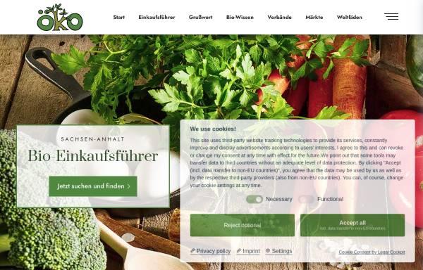 Vorschau von bio-einkaufsfuehrer.de, Biohöfegemeinschaft Sachsen-Anhalt