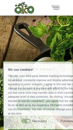 Vorschau der mobilen Webseite bio-einkaufsfuehrer.de, Biohöfegemeinschaft Sachsen-Anhalt