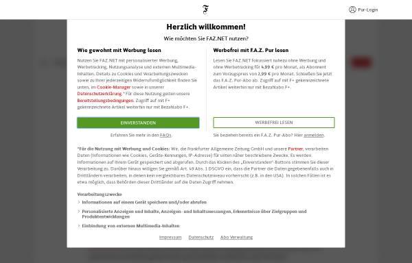 Vorschau von www.faz.net, Peter Hacks und Thomas Mann: Er gehört zu mir