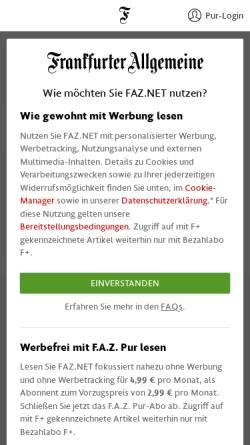 Vorschau der mobilen Webseite www.faz.net, Peter Hacks und Thomas Mann: Er gehört zu mir