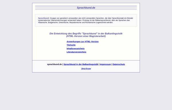 Vorschau von sprachbund.de, Entwicklung des Begriffs