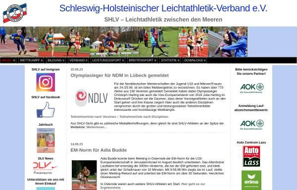 Vorschau von www.shlv.de, Schleswig-Holsteinischer Leichtathletik-Verband e.V.