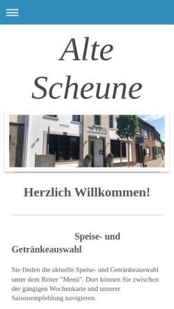 Vorschau der mobilen Webseite www.alte-scheune.info, Alte Scheune