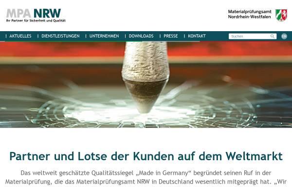 Vorschau von www.mpanrw.de, Materialprüfungsamt Nordrhein-Westfalen (MPA NRW)