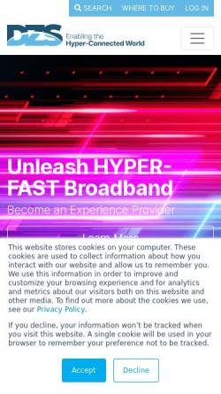 Vorschau der mobilen Webseite www.keymile.com, Keymile GmbH