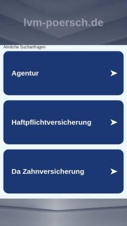 Vorschau der mobilen Webseite www.lvm-poersch.de, LVM-Versicherungsbüro D. Poersch