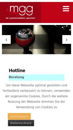Vorschau der mobilen Webseite www.mobilegarantie.de, MGG Mobile Garantie GmbH