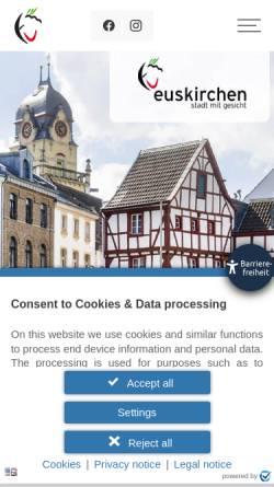 Vorschau der mobilen Webseite www.euskirchen.de, Euskirchen