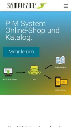 Vorschau der mobilen Webseite www.samplezone.ch, SampleZone Gmbh