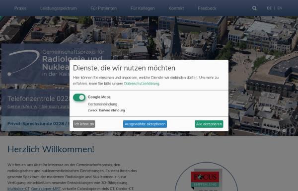Vorschau von www.radiologie-nuklearmedizin-bonn.de, Gemeinschaftspraxis für Radiologie und Nuklearmedizin