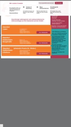 Vorschau der mobilen Webseite radiologie-aalen.de, Radiologie Aalen