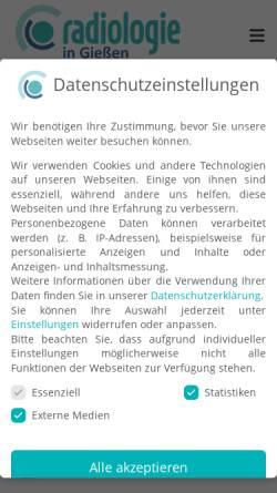Vorschau der mobilen Webseite www.radiologie-in-giessen.de, Radiologie an der Johanneskirche