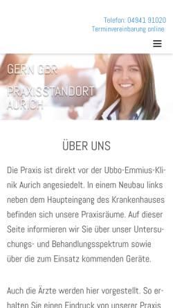 Vorschau der mobilen Webseite www.radiologie-aurich.de, Radiologische Gemeinschaftspraxis Aurich