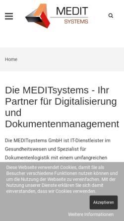 Vorschau der mobilen Webseite www.meditsystems.de, MeditSystems