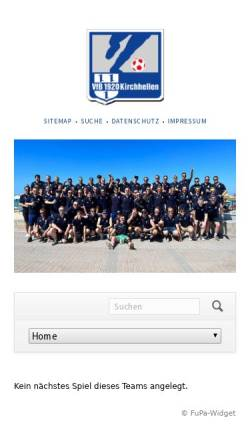 Vorschau der mobilen Webseite www.vfb-kirchhellen.de, VfB Kirchhellen 1920 e.V.