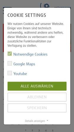 Vorschau der mobilen Webseite www.klinikumsolingen.de, Städtisches Klinikum Solingen