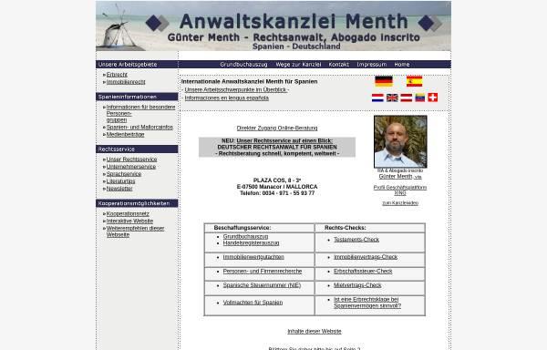Vorschau von www.copp-menth.de, Copp-Menth & Kollegen, Würzburg und Manacor