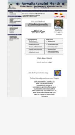 Vorschau der mobilen Webseite www.copp-menth.de, Copp-Menth & Kollegen, Würzburg und Manacor
