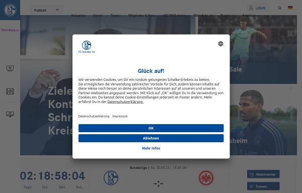 Vorschau von schalke04.de, FC Schalke 04
