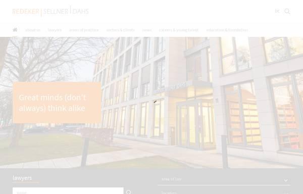 Vorschau von www.redeker.de, Redeker Sellner Dahs