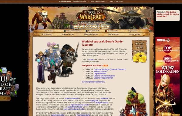 Vorschau von www.wowberufeguide.de, WoW Berufe Guide