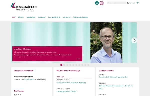 Vorschau von www.lebertransplantation.eu, Selbsthilfe Lebertransplantierter Deutschland e.V.