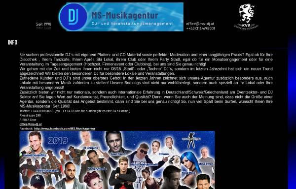 Vorschau von www.ms-dj.at, DJ- und Veranstaltungsmanagement