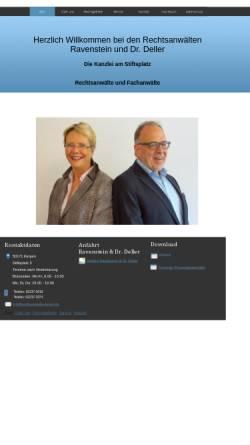 Vorschau der mobilen Webseite www.rain-dr-deller.de, Fachanwältin für Familienrecht
