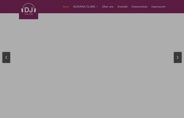Vorschau von www.djurlaub.de, DJ Urlaub