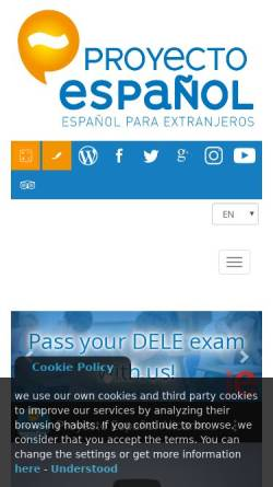 Vorschau der mobilen Webseite proyecto-es.com, Proyecto Espanol