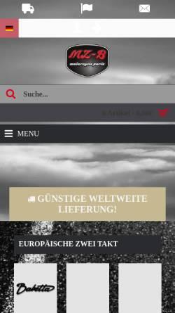 Vorschau der mobilen Webseite mz-b.de, MZ-B Vertriebs GmbH