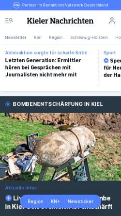 Vorschau der mobilen Webseite www.kn-online.de, Kieler Nachrichten