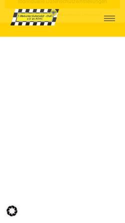 Vorschau der mobilen Webseite www.walsumerac.de, 1. Walsumer Automobil-Club e.V. im ADAC