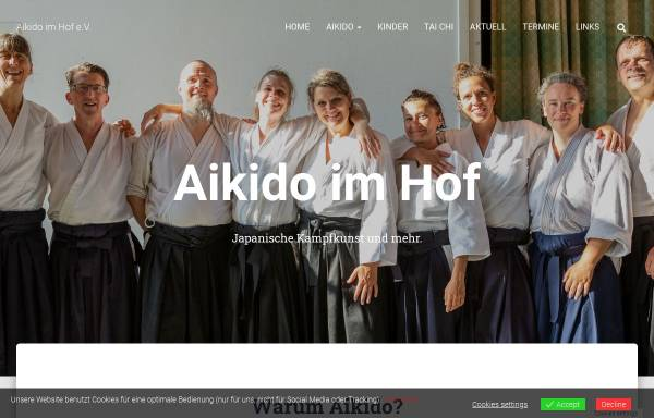 Vorschau von www.aikido-im-hof.de, Ki und Aikido Dojo Duisburg
