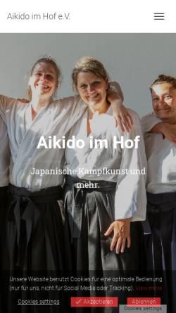 Vorschau der mobilen Webseite www.aikido-im-hof.de, Ki und Aikido Dojo Duisburg