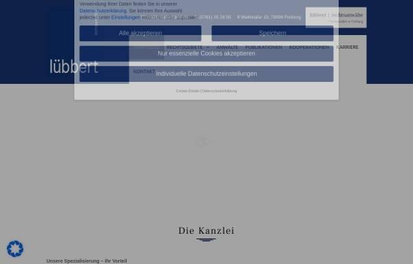 Vorschau von www.raeluebbert.de, Lübbert, Haaf, Beeretz, Berst & Kollegen