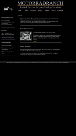 Vorschau der mobilen Webseite www.motorradranch.de, Motorradranch
