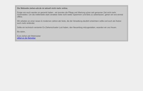 Vorschau von www.ziehen-abi.de, Frankfurt am Main - Ziehenschule (Gymnasium) - Adressdatenbank für Ehemalige
