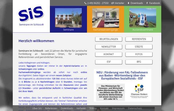 Vorschau von www.seminare-im-schloss.de, Seminare im Schloss - Heiner Kranz, Schwetzingen
