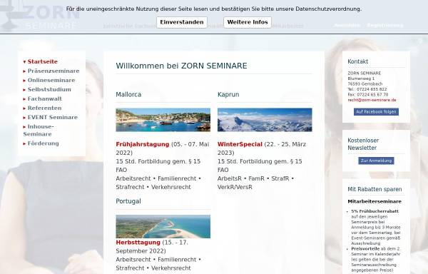 Vorschau von www.zorn-seminare.de, Zorn-Seminare