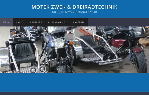 Vorschau von www.motek-gespannbau.de, Motek Zwei & Dreiradtechnik