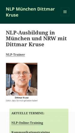 Vorschau der mobilen Webseite www.dittmar-kruse.com, Kruse, Dittmar