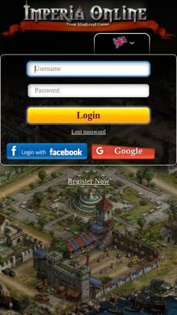 Vorschau der mobilen Webseite www.imperiaonline.org, Imperia Online