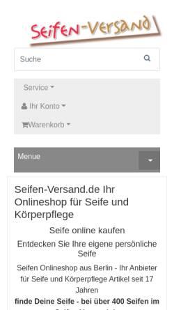 Vorschau der mobilen Webseite www.seifen-versand.de, Seifen-Versand, Volkmar Syring