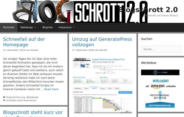 Vorschau von blogschrott.net, Blogschrott 2.0